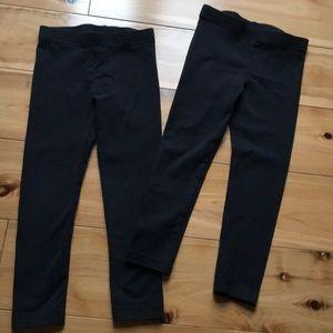2 pairs of plain black leggings